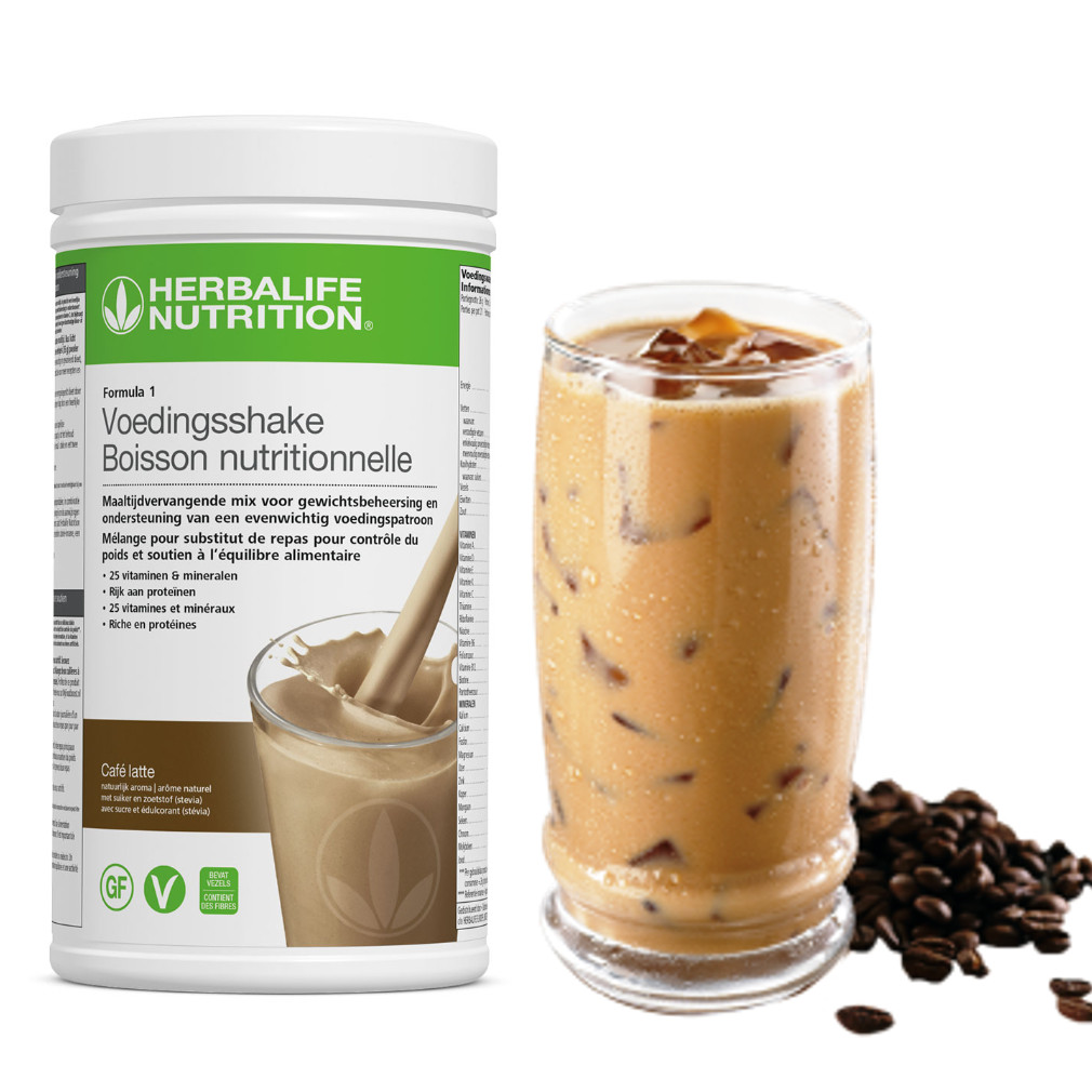 Herbalife, F1, Banana, Cafe, Latte, 4465, Shake